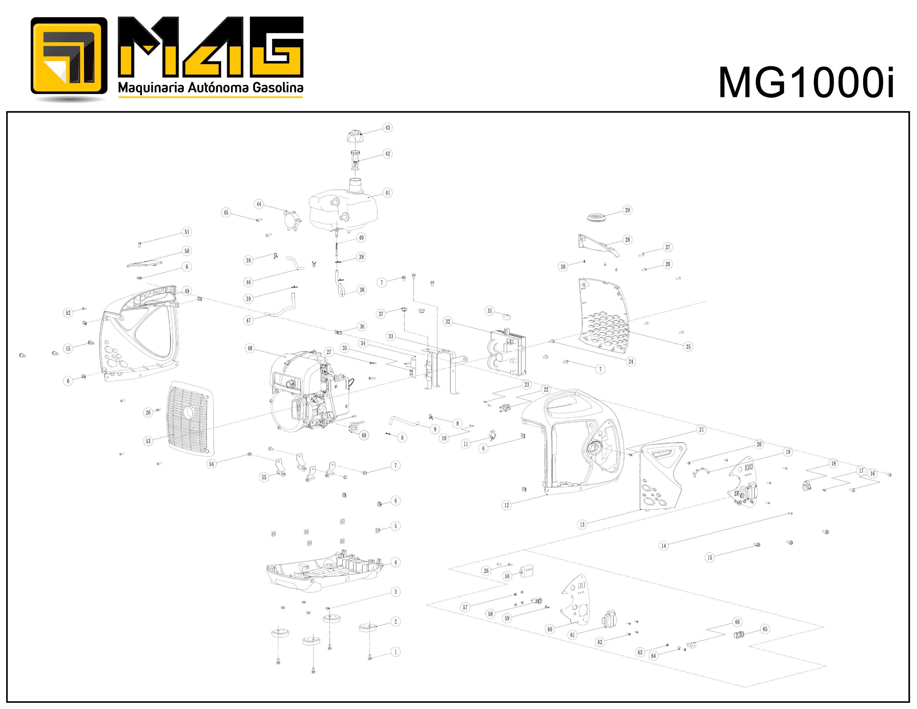 MG1000i Generator Explode